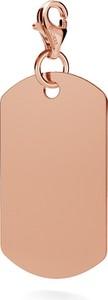 GIORRE SREBRNY CHARMS NIEŚMIERTELNIK GRAWER 925 : Kolor pokrycia srebra - Pokrycie Różowym 18K Złotem