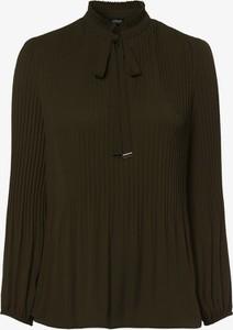 Zielona bluzka S.Oliver Black Label ze sznurowanym dekoltem