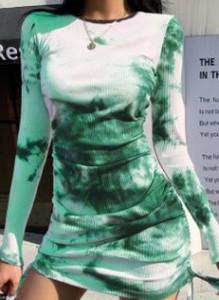 Zielona sukienka Cikelly ołówkowa