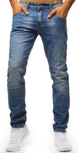 Niebieskie jeansy Dstreet z jeansu w street stylu