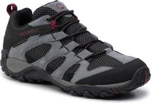 Brązowe buty trekkingowe Merrell sznurowane