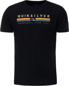 Czarny t-shirt Quiksilver z krótkim rękawem