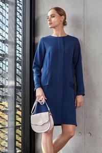 Sukienka Style z długim rękawem z okrągłym dekoltem maxi