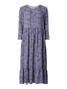 Niebieska sukienka Review w stylu casual z długim rękawem
