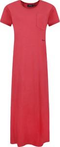 Sukienka POLO RALPH LAUREN maxi z krótkim rękawem z okrągłym dekoltem