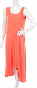 Pomarańczowa sukienka Bexleys maxi bez rękawów asymetryczna