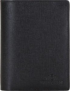 Czarny portfel męski Wittchen na bilon ze skóry