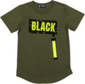 Zielona koszulka dziecięca Ombre Clothing z bawełny