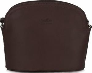 Torebki skórzane listonoszki firmy genuine leather czekoladowe