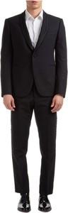 Czarny garnitur Emporio Armani z wełny