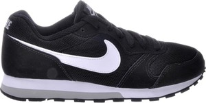 Czarne buty sportowe Nike md runner z płaską podeszwą sznurowane