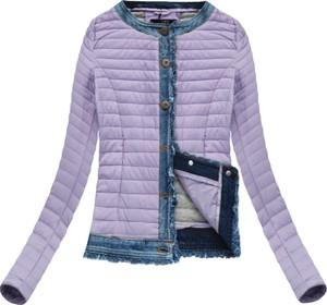 Fioletowa kurtka libland z bawełny w stylu casual