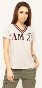 T-shirt Aeronautica Militare w militarnym stylu