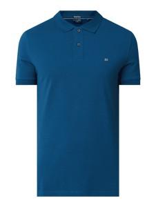 Niebieska koszulka polo Christian Berg Men z bawełny z krótkim rękawem