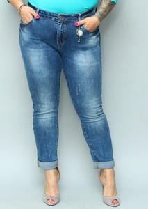 Jeansy KARKO w street stylu z jeansu