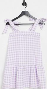 Fioletowa sukienka Influence Petite z okrągłym dekoltem na ramiączkach baskinka