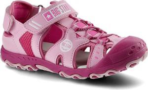 Różowe buty dziecięce letnie Big Star na rzepy dla dziewczynek