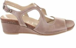 Brązowe sandały HASSIA z klamrami w stylu casual ze skóry