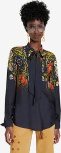 Bluzka Desigual z okrągłym dekoltem z długim rękawem