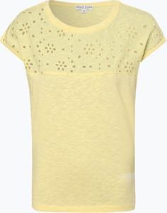 Żółty t-shirt Marie Lund w stylu casual z krótkim rękawem