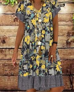 Sukienka Kendallme mini oversize z bawełny