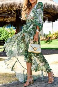 Sukienka IVET kopertowa z długim rękawem