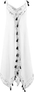 Sukienka bonprix z dekoltem w kształcie litery v na ramiączkach