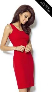 Czerwona sukienka Ivon mini z dekoltem w kształcie litery v