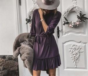 Fioletowa sukienka Ivon