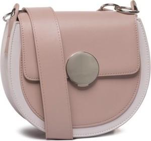 Różowa torebka Jenny Fairy matowa na ramię w stylu casual