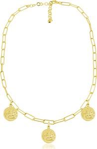 Lian Art Łańcuszek Margot Antique z monetami - duże oczka - 24k złocenie