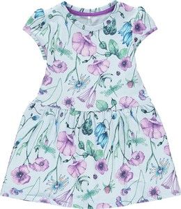 Sukienka dziewczęca Name it z bawełny w kwiatki