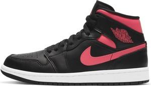 Czarne buty sportowe Nike z płaską podeszwą sznurowane ze skóry