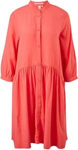 Czerwona sukienka S.Oliver koszulowa mini z długim rękawem