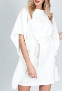 Sukienka ZOiO.pl z tkaniny z długim rękawem oversize