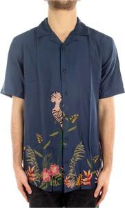 Niebieska koszula Only & Sons w młodzieżowym stylu z bawełny z nadrukiem