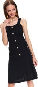 Czarna sukienka Top Secret w stylu casual mini na ramiączkach