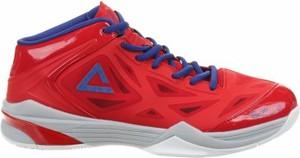 Czerwone buty sportowe Peak sznurowane