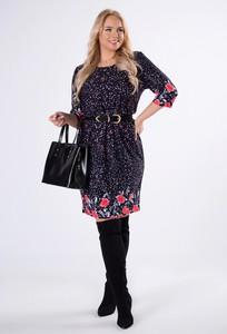 Sukienka Ptakmoda.com z bawełny z długim rękawem