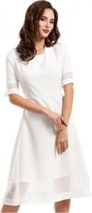 Sukienka MOE mini z krótkim rękawem z szyfonu