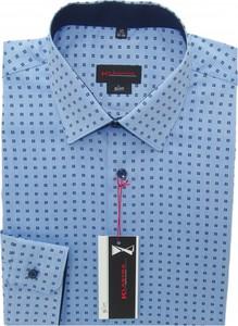 Niebieska koszula Klasyka Kielce z bawełny