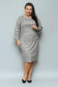 Sukienka KARKO midi ołówkowa z okrągłym dekoltem