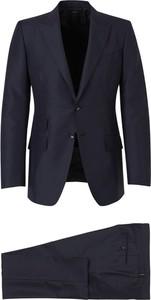 Niebieski garnitur Tom Ford z wełny
