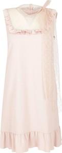 Różowa sukienka Red Valentino bez rękawów mini
