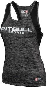 Czarny top Pitbull z tkaniny