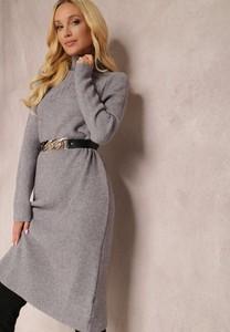 Sukienka Renee w stylu casual prosta z długim rękawem