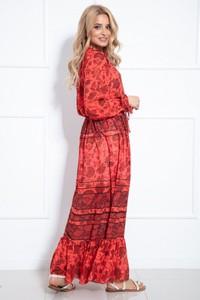 Sukienka Fobya z długim rękawem z szyfonu