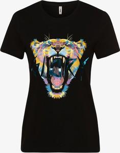 Czarny t-shirt Only z krótkim rękawem w młodzieżowym stylu z okrągłym dekoltem