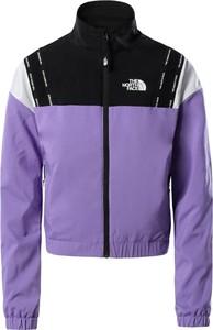 Fioletowa kurtka The North Face w sportowym stylu