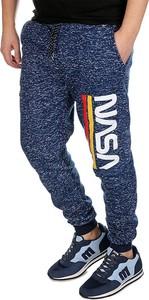 Niebieskie spodnie sportowe Neidio z dresówki w sportowym stylu